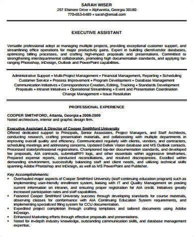 Resume For Executive Director by 7 Sle Executive Director Resumes Sle Templates