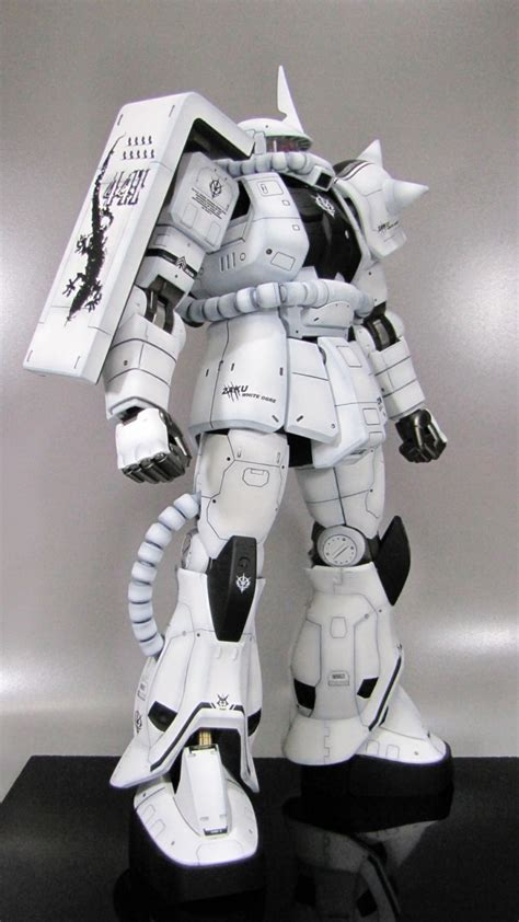 Master Grade Zaku White Ogre ms 06j zaku ii white ogre custom mecha gundam universal