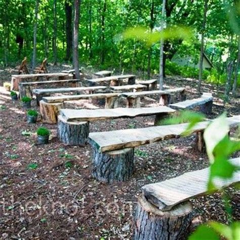 rustic log benches outdoor rustic pews benches from tree stumps and wood wedding