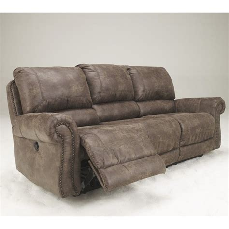 microfiber couch with recliner signature design by ashley furniture oberson microfiber