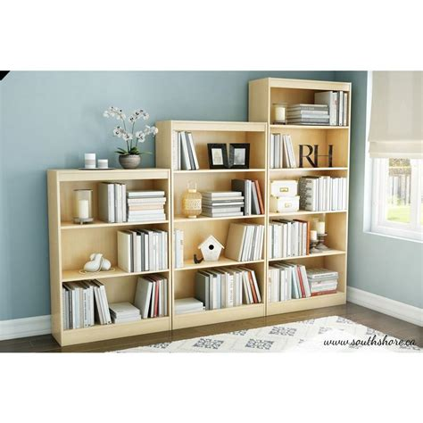 white 5 shelf bookcase south shore axess pure white open bookcase 8050143k the