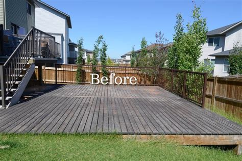 cedar deck restoration  calgary eco star painting