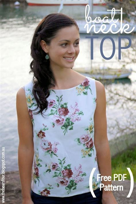 boat neck shirt sewing pattern the bears four free boat neck top pattern tutorial