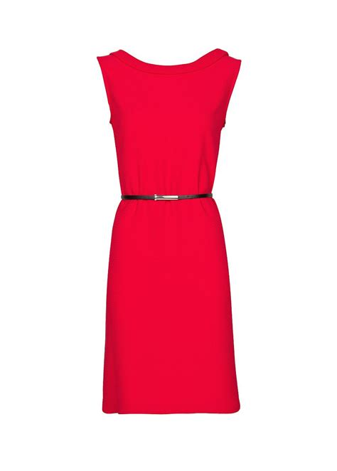 mango sleeveless dress with belt in pink lyst