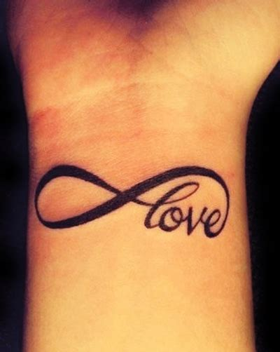 infinite love tattoo designs wrist designs for