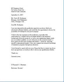 Business Letters Of Application Sample Business Letter Application Letter Sample Business Letter
