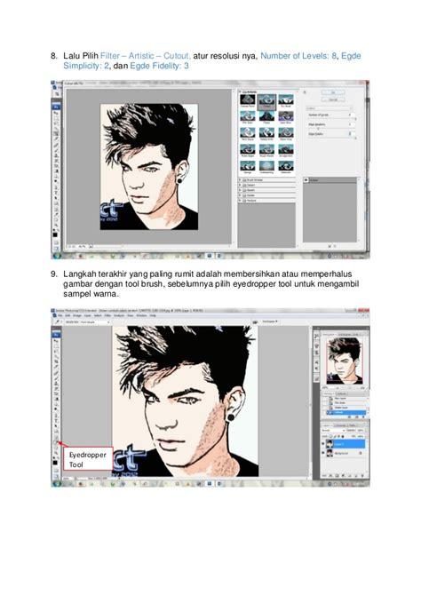 membuat poster kartun membuat efek kartun pada foto