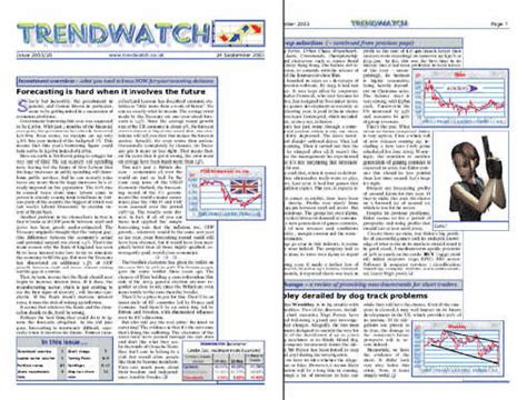 Financial Newsletter Trendwatch Co Uk Tipping Service Reviewed