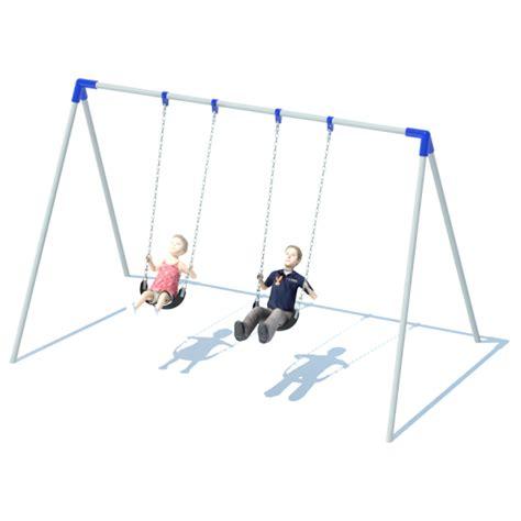 swinging bi 1 bay bi pod swing frame swing sets