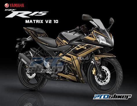Harga Warna Matrix stiker motor modifikasi r15 midnight black motif matrix v2