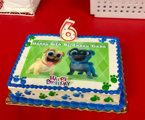 puppy pals birthday decorations a customer shared a picture of their cake with the puppy pals edible cake topper