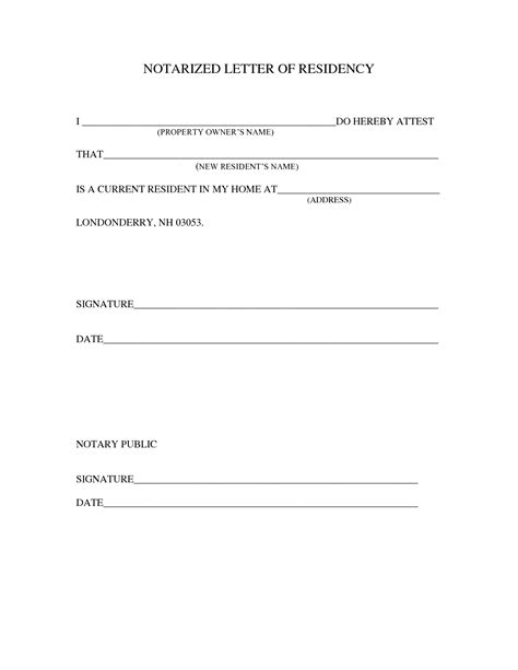 sample notarized letter template lettering statement
