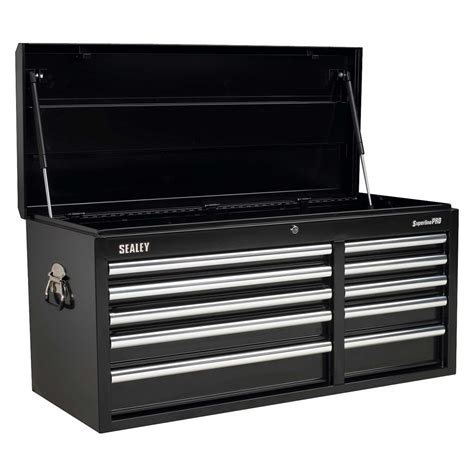 sealey heavy duty topchest 10 drawer with bearing