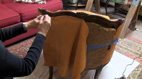 how to upholstery a found treasure restored reupholster a chair youtube