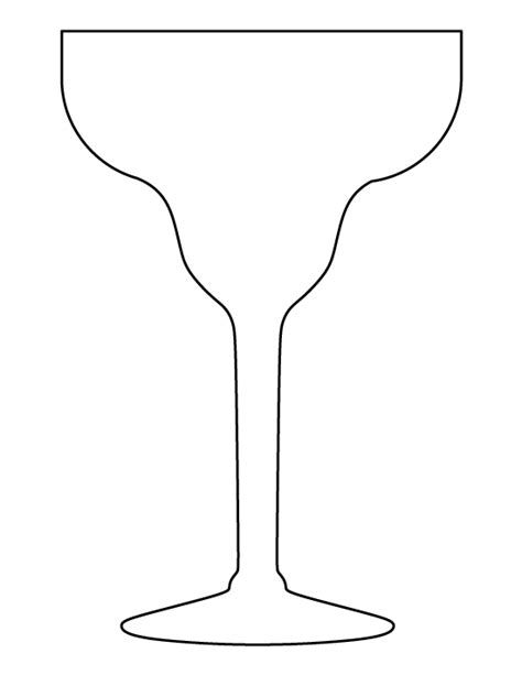 margarita outline printable margarita glass template