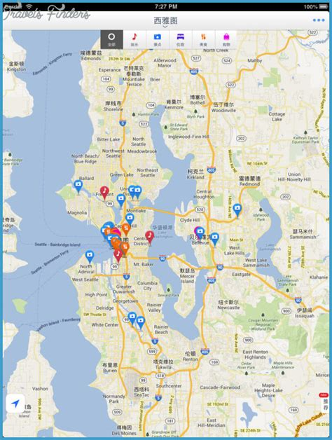 seattle map with attractions seattle map tourist attractions travelsfinders