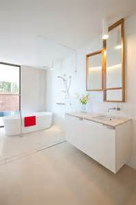 white beach bathroom the bright white bathroom is awash in contemporary touches like a
