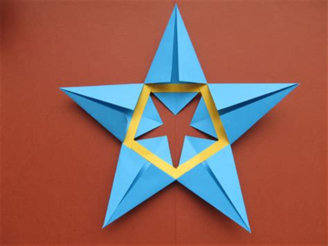 How To Make A 5 Point Out Of Paper - how to make a 5 pointed from paper
