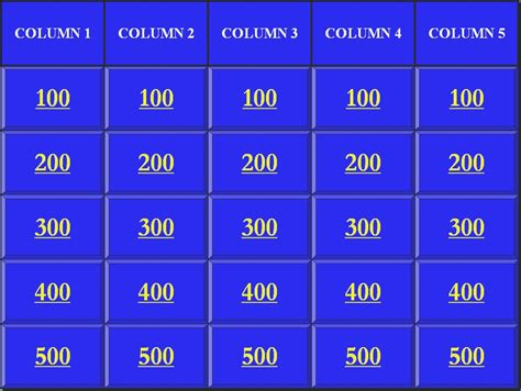 jeopardy powerpoint template with free jeopardy powerpoint template with harddance info