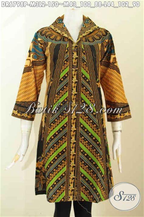 Baju Wanita Dress V baju batik wanita berkerah model v dress batik elegan