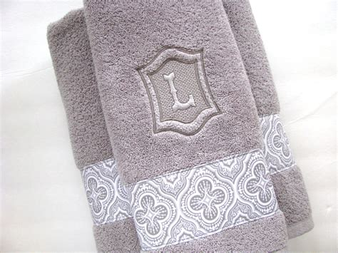 monogrammed bath towels personalized towels towel bathroom personalized gift