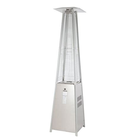 Pyramid Gas Patio Heater Sense 40 000 Btu Stainless Steel Pyramid Propane Gas Patio Heater 60523 The Home Depot