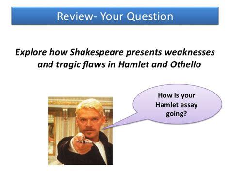 common themes in hamlet and othello othello as a tragic hero