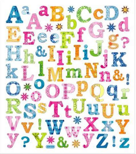 Sticker Einzelne Buchstaben by Sticker King Tropical Letters Clear Stickers