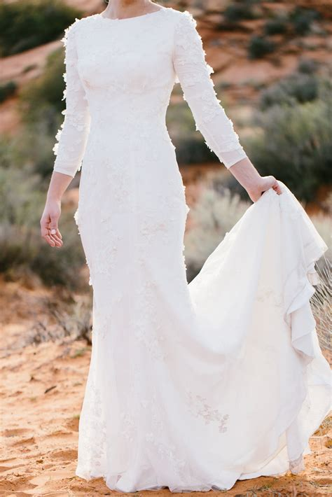 Lds Wedding Dress by Lds Wedding Dresses Mormon Wedding Gowns Temple Approved