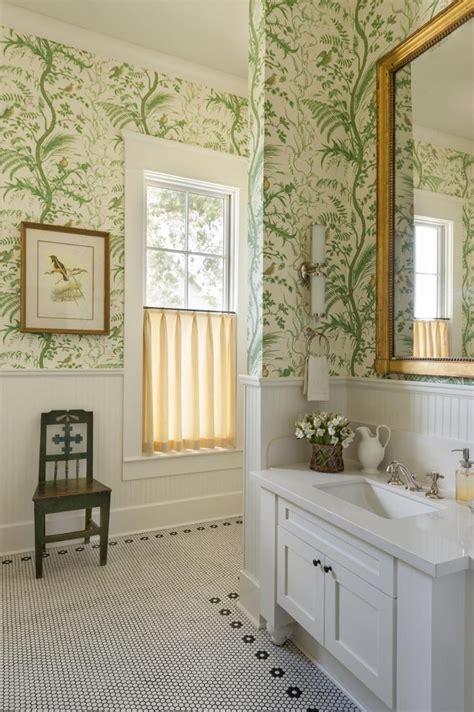 ideas  bathroom wallpaper  pinterest bath