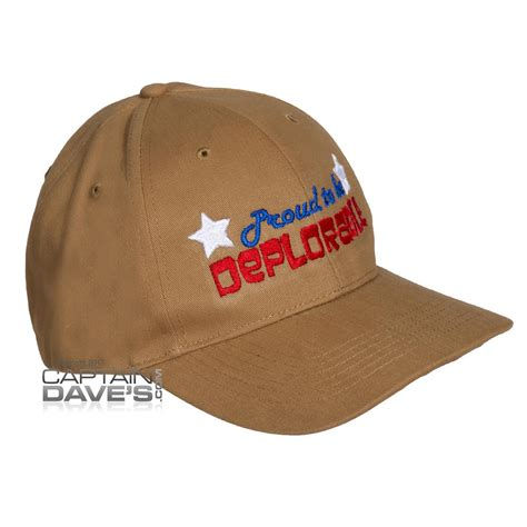 proud to be deplorable embroidered baseball cap