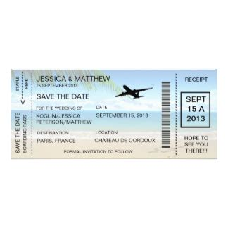 save the date boarding pass template boarding pass gifts on zazzle