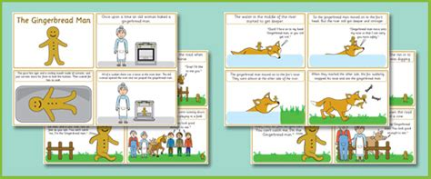 new year story flashcards the gingerbread story sequencing cards free early