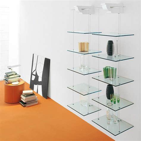 estanterias de madera  cristal  salones de diseno