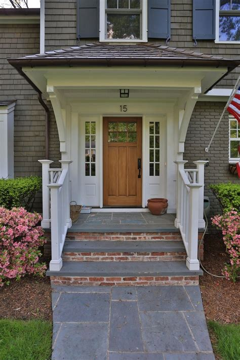 Exterior Porch Doors Front Porch Modern Home Exterior Design With Single Brown