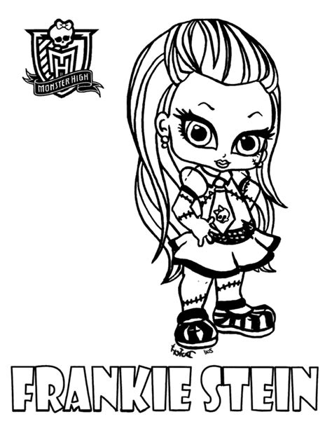 monster high names coloring pages m 229 larbilder f 246 r barn frankie stein