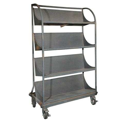 four shelf industrial rack on wheels at 1stdibs