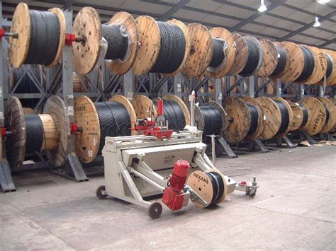 Cable Drum Racking Systems by Autoreel Ltd Cable Winding Systems Live Cable Drum Racking