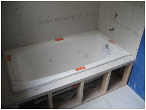 installing a drop in bathtub spa tub install green button homes