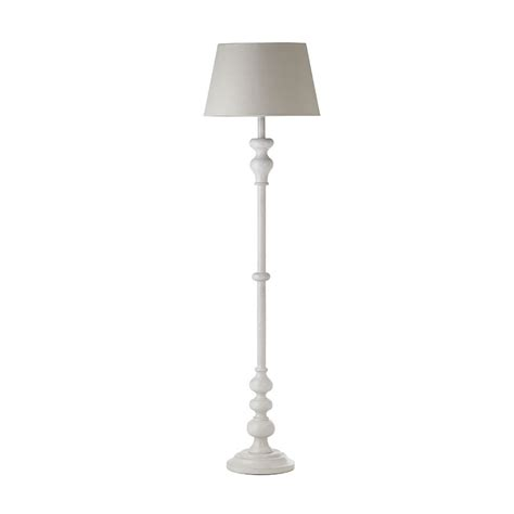 Endon Melito Wooden Floor Lamp in Grey SHADE NOT INCLUDED Reading Light eBay
