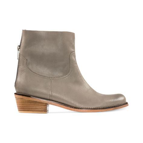 adam tucker shoes lyst me adam tucker plaza booties in gray