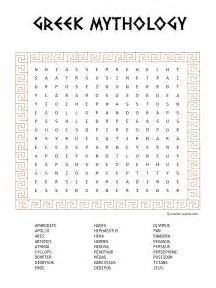 Greek mythology word search