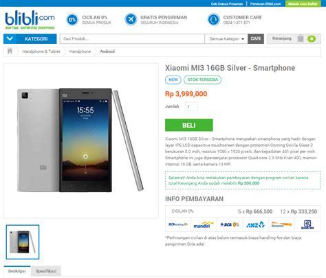 Hp Xiaomi Mi3 Di Indonesia harga xiaomi mi3 di indonesia dan tempat beli spesifikasi lengkap dan harga hp