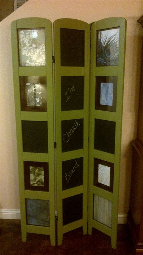 Chalkboard Room Divider by Repurposed Photo Room Divider With Chalkboard Panels