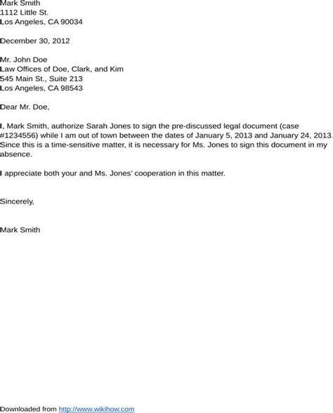 authorization letter format for agreement sle authorization letter for free