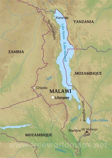 geographical map of malawi malawi physical map