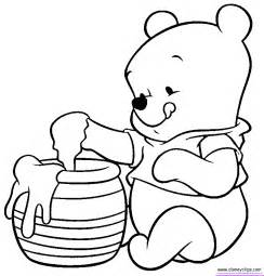 baby winnie the pooh christmas coloring pages happy