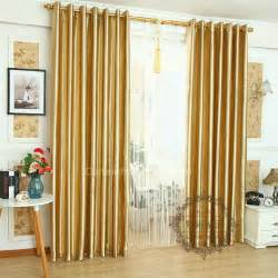 White Thermal Blackout Curtains Gold Colored Leaf Patterns Living Room Discount Insulated