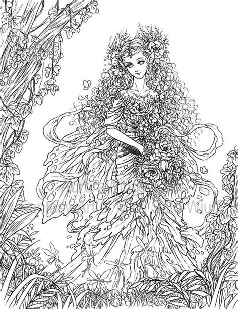 forest elf coloring pages coloring coloring books and wings on pinterest