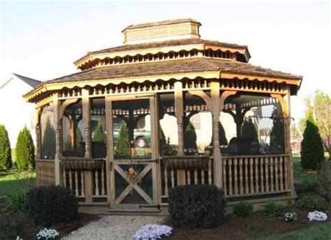 wood gazebo kits amish built 12x14 wood gazebo kits for sale alan s